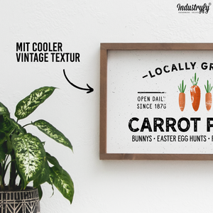 "Farmhouse Design Schild ""Carrot Patch"" 