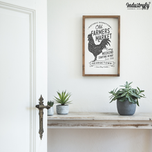 "Laden Sie das Bild in den Galerie-Viewer, Farmhouse Design Schild ""Old Farmers Market"""