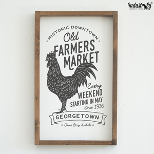 "Farmhouse Design Schild ""Old Farmers Market"""