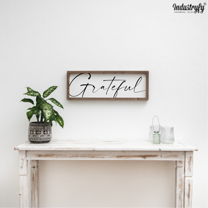 "Farmhouse Design Schild ""very Grateful"""