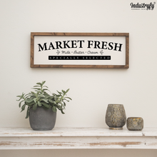 "Laden Sie das Bild in den Galerie-Viewer, Farmhouse Design Schild ""Market Fresh"""