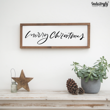 "Laden Sie das Bild in den Galerie-Viewer, Farmhouse Design Schild ""Merry christmas"""