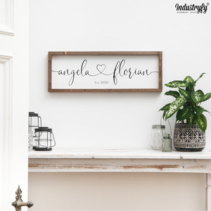 "Personalisierbares Farmhouse Design Schild ""Together"""