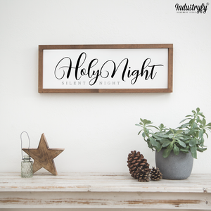 "Farmhouse Design Schild ""Silent Night, Holy Night"""
