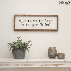 "Farmhouse Design Schild ""we will serve the lord"""