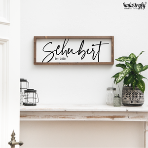 "Personalisierbares Farmhouse Schild ""Family Name"""