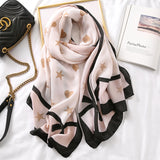 Elegant Fashion Rosette Bow-knot Cotton Scarf Shawl Wrap for Women Ladies Girls 90x180