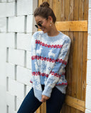 Christmas Snowflake Long Sleeve Sweater