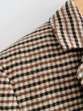 Single-breasted Houndstooth Coat Blazer Skirt Two-piece Suit