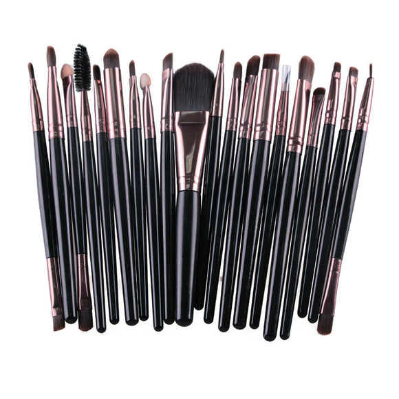 20pcs Makeup Brushes Eyebrow Eyeshadow Eyeliner Kit Eyelash Brush