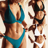 Strappy Bikini Lace-up Swimwear Swim Suit