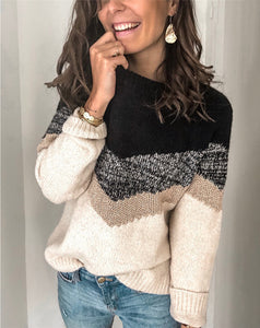 Casual Contrast Casual Knitted Sweater