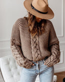 Casual Twist Bat Style Knitting Sweater