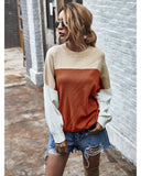 Batwing Sleeve Multicolor Knitting Sweater