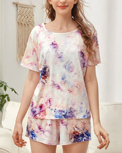 Tie Dye Tee T-Shirt Shorts Two-piece Loungewear