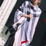Plaid Silk Scarf Silky Shawl Wrap for Women Ladies Girls 90x180