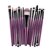 15pcs Makeup Brushes Eyebrow Eyeshadow Eyeliner Kit Eyelash Brush