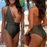 Conjoined Contrast Sexy Swimsuit Bikini