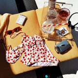 Lovely Summer Cherry Printed High Waist Bikini