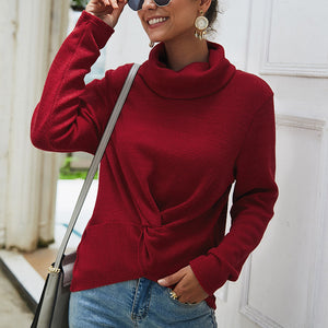 Women Turtleneck Long Sleeve Sweater