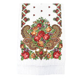 Ethnic Retro Flower Long Scarf Shawl Fringed Scarves for Women Ladies Girls