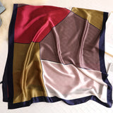 Contrast Stitch Silkly Scarf for Women Casual Scarves Women