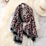 Fashion Leapord Warm Cotton Scarf Shawl Wrap for Women Ladies Girls 90x180