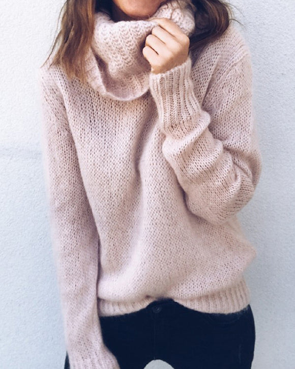 Casual Turtleneck Knitted Sweaters
