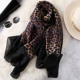 Plush Leopard Print Infinity Scarf for Women