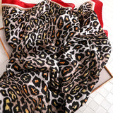 Leopard Print Silkly Scarf for Women Scarves Women