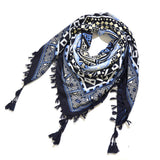 Bohemian Shawl Scarf Tribal Jacquard Fringed Ethnic Shawl Scarf For Women Blankets Shawl Ponchos Capes 115x115