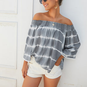 Women's One Off Shoulder Loose Shirt Blouse