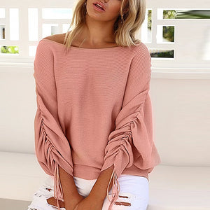 Women Casual Vogue Long Sleeve Loose O-Neck Sweater Tees T-Shirts