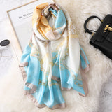 Vogue Silkly Scarf for Women Lightweight Classical Shawl Wraps Holiday Scarf Gift Scarves Women