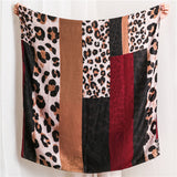Leopard Printed Scarf Shawl for Women Ladies Girls