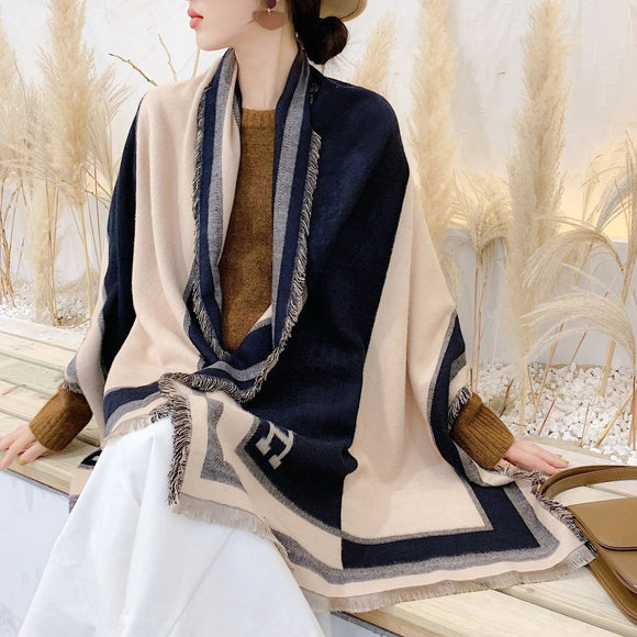 Tassel Warm Cashmere Thick Scarf Shawl Wrap for Women Ladies Girls 65x190