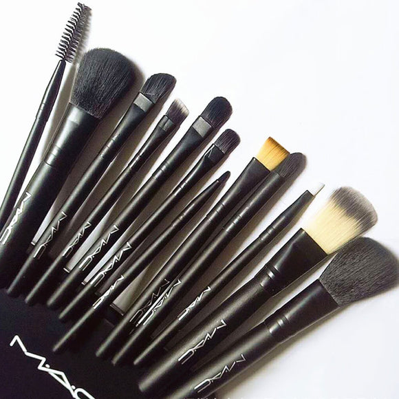 Newest 12pcs Makeup Brush Set With Iron Box Beauty Tools Loose Eyeshadow Brush