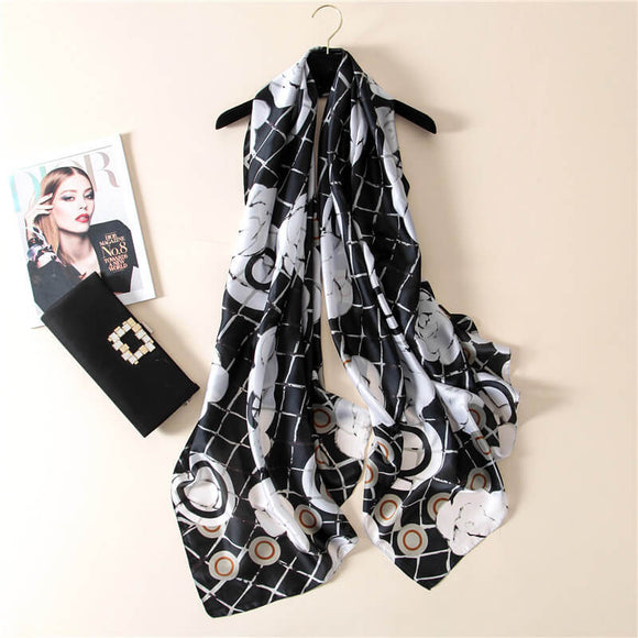 Floral Long Thick Scarf for Women