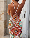 Backless Handmade Sling Hollow-out Crochet Dress