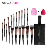 18pcs Makeup Brush Sets With Gourd Makeup Sponge Scrubbing Artifact BeautyTools with Brush Bag