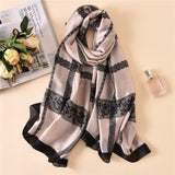 Simple Elegant Fashion Lace Silk Scarf Shawl Wrap for Women Ladies Girls 90x180