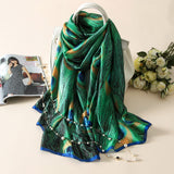 Vogue Silkly Scarf for Women Lightweight Floral Shawl Wraps Holiday Scarf Gift Scarves Women