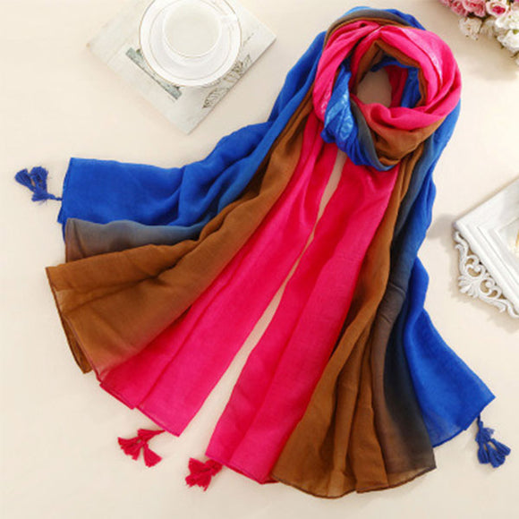 Lightweight Casual Silk Silkly Scarf for Women Scarves Women