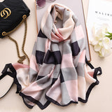 Stylish British Plaid Warm Long Thick Scarfs for Women Vogue Scarf Scarves Women