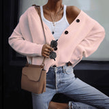 Women's Single-breasted Long Sleeve Sweater Cardigan