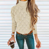 Women's High Collar Tight Sweater