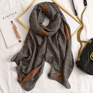 Letter GG Casual Silk Scarf for Women Long Scarves Women