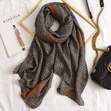 Letter Supre GG Casual Silkly Scarf for Women Long Scarves Women