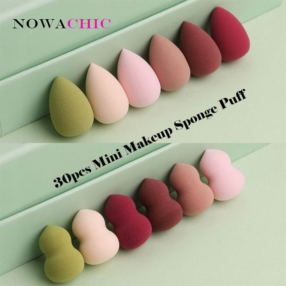 30pcs Non-Latex Makeup Sponge Beauty Sponge Blender Set Foundation Blending Sponges