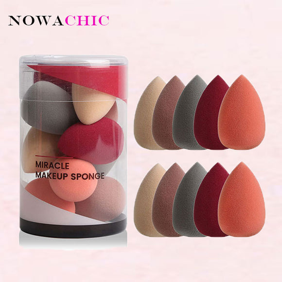 10pcs Makeup Sponge Beauty Sponge Blender Set Foundation Blending Sponges